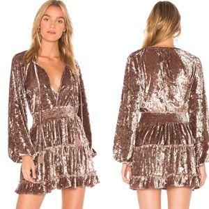 Tularosa Delaney Crushed Velvet Dress